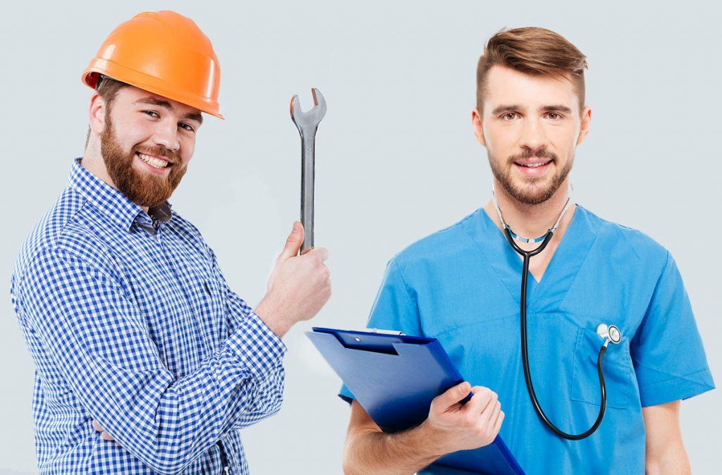 lavoratore e medico del lavoro alcamed