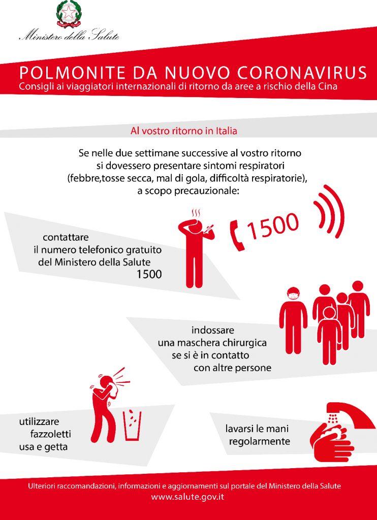 locandina coronavirus lingua italiana